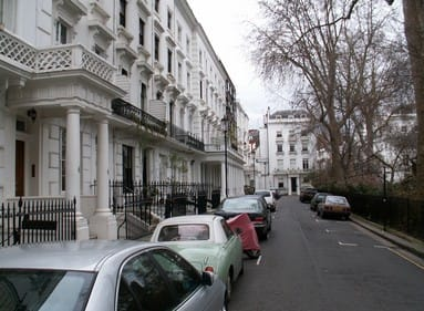White semi-deteched houses in London, UK