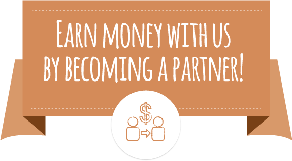 Earn money with us by becoming a partner!